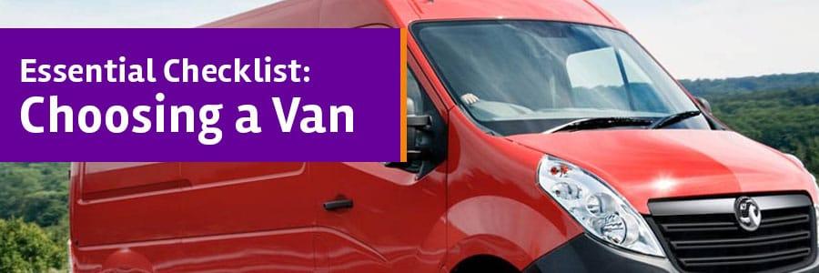 Choosing a van checklist