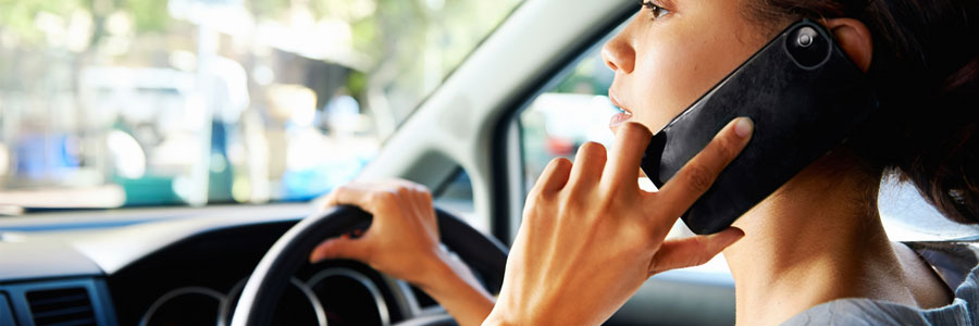 Mobile phone safety when driving