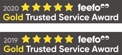 G2L are proud Feefo Gold Trusted Service Award winners