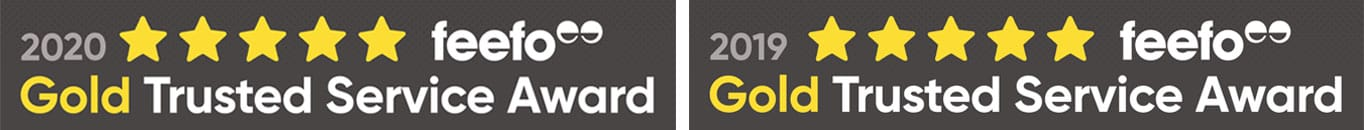 Gateway2Lease Gold Service Feefo Award Winner 2019 and 2020