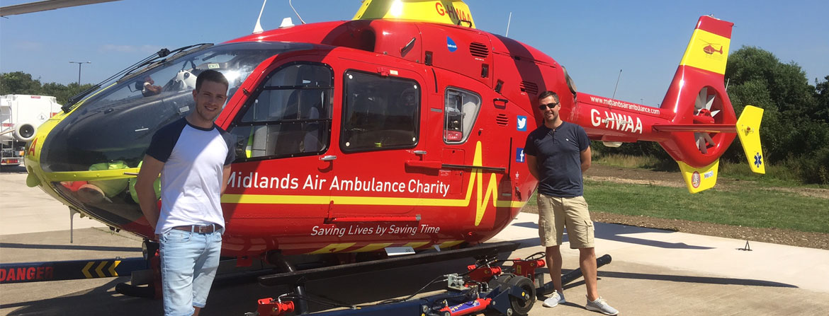 G2L's visiting the Midlands Air Ambulance Cahrity